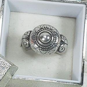 Vintage Arabian Sultan Solid Sterling Silver Ring